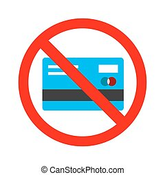 card., no, recibir, signo., efectivo, credito, permitido, ...