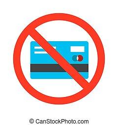 card., no, ricevere, segno., contanti, credito, conceduto, pagamento, scheda, dovere
