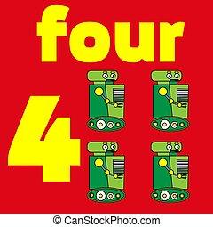 Card number. Mathematics. Education. Vector illustration. worksheet for kids