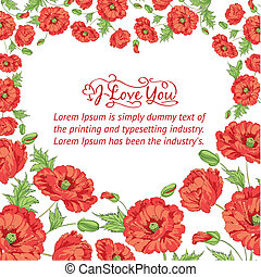 Card of poppies
