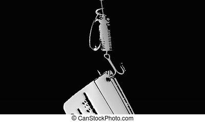card on the hook spoon-bait phishin - phishing financial...