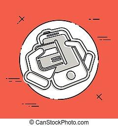 Card phone icon