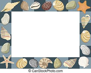 card., porte-photo, vecteur, bébé, marin, ou