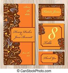 card., printable, 招待, イラスト, 秋, tansy, 結婚式