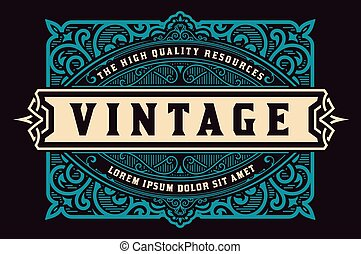 card., real, detalhes, ornamentos, floral, barroco