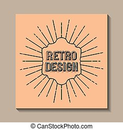card retro vintage frame