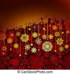 card., saludo, eps, 8, navidad, rojo