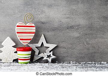 card., saudação, natal