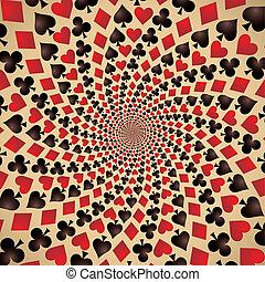 Hearts, diamonds, spades and clubs