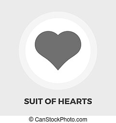 Card suit icon flat