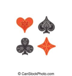 Card suit.  - Playing Card Simple Ornament