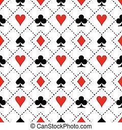Card suit symbols pattern design