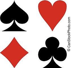 Card Suit Symbols - Set of card suit symbols.