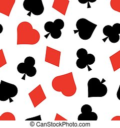 Card suit - Vector seamless pattern of playing card suit