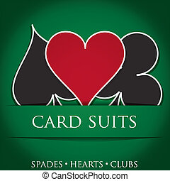 Card Suits - Card suit background in vector format