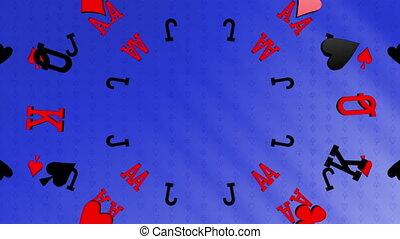 Card suits gambling looping animated background - Gambling...