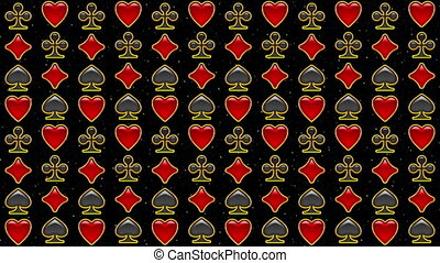 Card Suits, Seamless Loop - Fullhd 1920x1080 Progressive...