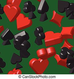 Card Symbols Seamless Pattern