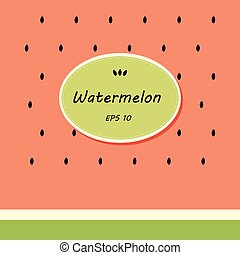 Card template design with watermelon