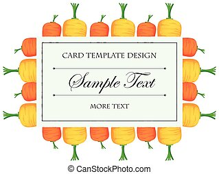 Card Template With Colorful Carrots  Congratulations Card Template