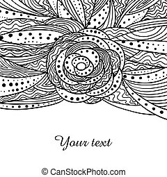 Card template with doddle pattern