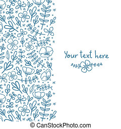 Card template with flowers