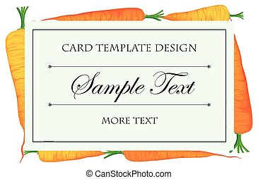 Card template with fresh carrots in background