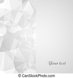 Card template with geometric background