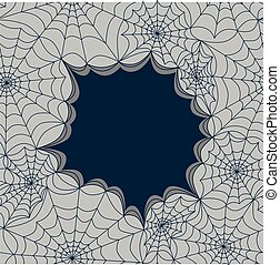Card template with spiders web, seamless. Vector