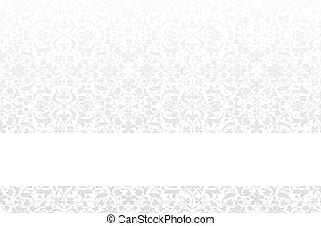 Card template with vintage pattern