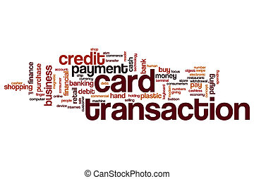 Card transaction word cloud