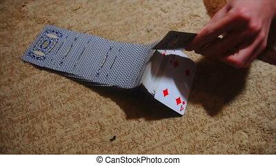 card trick, beautiful card shuffle - card trick , beautiful...