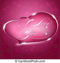 Card %u2013 I Love You, vector