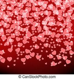 card., valentine, eps, gabarit, 8, vacances, jour