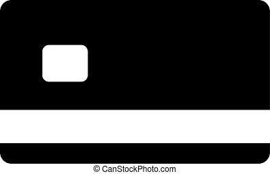 card vector icon. Illustration isolated for graphic and web design.