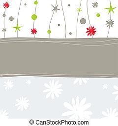 card, vektor, jul, illustration, shepes.