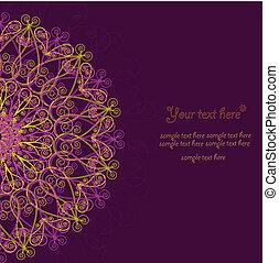 card., weinlese, rahmen, design, schablone, einladung