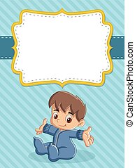 Card with a baby boy.