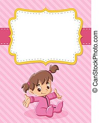 Card with a baby girl