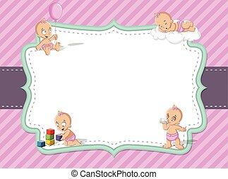 baby girl wearing diaper. Cute toddler.