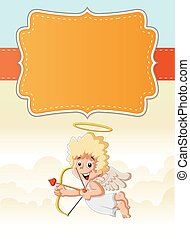 cupid angel boy in heaven aiming at someone