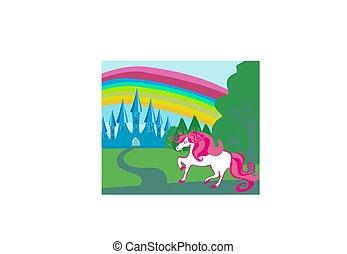 Card with a cute unicorn