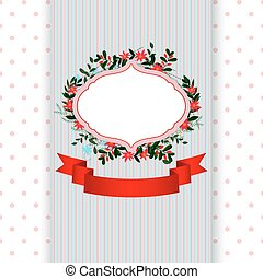 card with a floral frame
