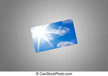 card with a picture of sky