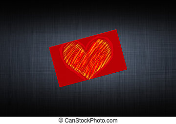 card with a picture of the heart