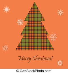 Card with a Scottish tree