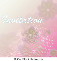 Card with abstract floral background.