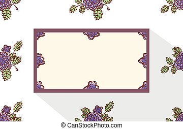 Card with abstract roses