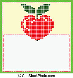 Card with apple heart