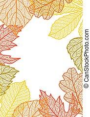 Card with autumn foliage.